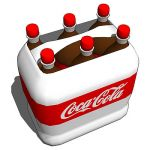 Coca Cola® sixpack with draghandle.