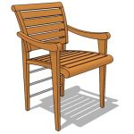 Indonesian teak dining chair