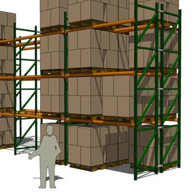 Industrial Pallet Rack Frame Steel Structure with ....