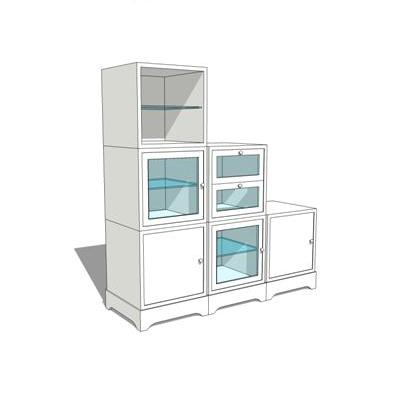 sketchup kitchen design modular bathroom storage units 3d model formfonts 3d 2289