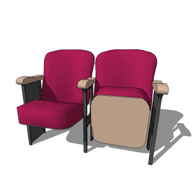 Folding theatre seat (American Standard sizes).