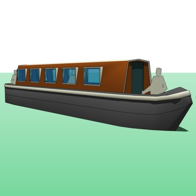 Live-In Model for a 6ft wide European Canal Boat. ....