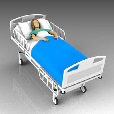 female patient lying hospital bed_FF_Model_ID2358_1_patient_prone02
