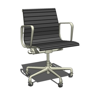 Eames Aluminum Chair with casters by Herman Miller....