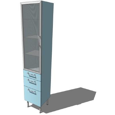 ikea asnen1 high cabinet 192cm 3d model formfonts 3d models