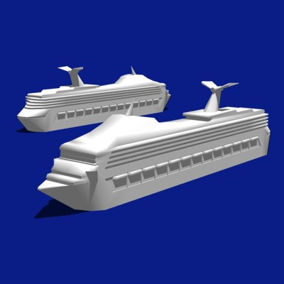 Cruise Ship. Based on the Carni Line. White-On-Whi....