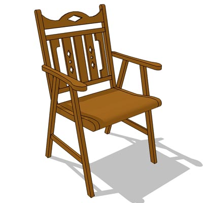 Indonesian teak wood dining chair.