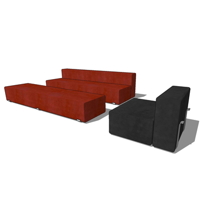 Marcel single sofa set by Santa & Cole, designed b....