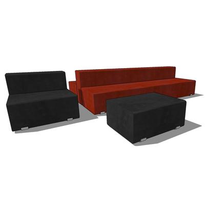 Wondrous Marcel Double Sofa Set 3D Model Formfonts 3D Models Textures Pabps2019 Chair Design Images Pabps2019Com