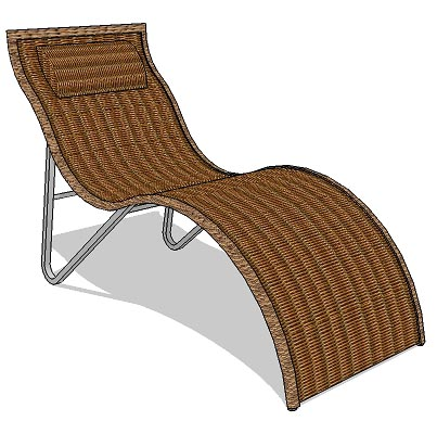 Rattan lounger for both indoor and outdoor.