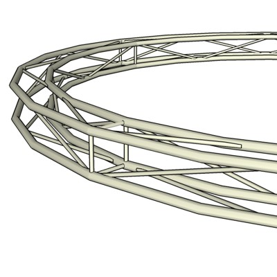 Square Frame Circular Truss. Height=290mm; Diam=5m....