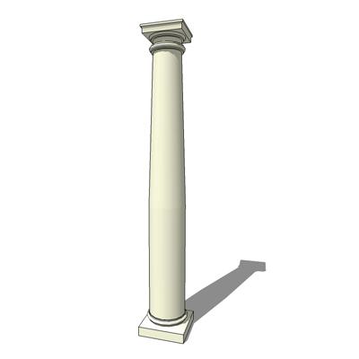 Tuscan Column 3d Model Formfonts 3d Models Amp Textures