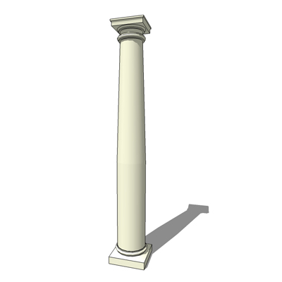 Tuscan column 3d model formfonts 3d models textures for Tuscan columns