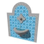 A wall mounted fountain that usually decorates spa...
