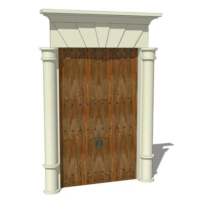Spanish Style Front Door 3d Model Formfonts 3d Models