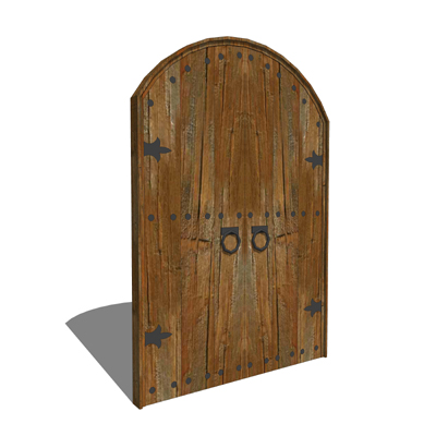Arched Colonial Door 3D Model