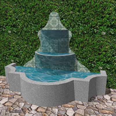 Spanish style fountain 3d model formfonts 3d models - Spanish style water fountains ...