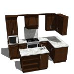 Complete kitchen with oven and microwave and separ...