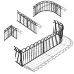 Wrought iron railing set to place around a yard or...