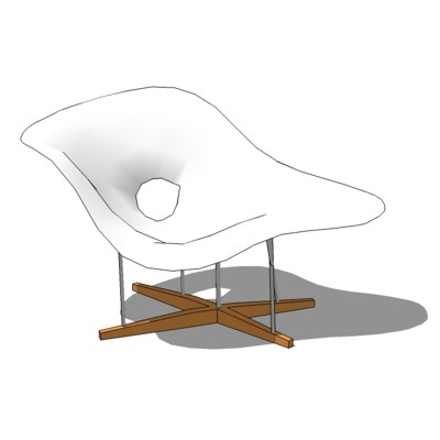 Eames la chaise 3d model formfonts 3d models textures for Chaise charles eames ebay