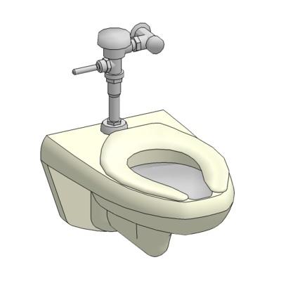 Toilet wall hung 3d model formfonts 3d models textures - Toilet model ...