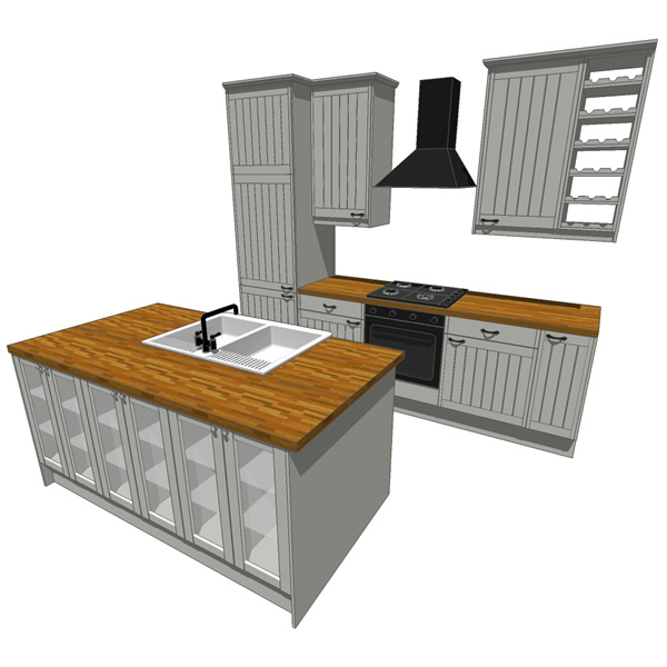 Modular kitchen setup. All components can be set u....
