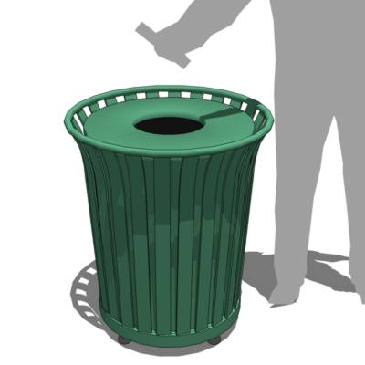 Large Trash Receptacle. Component based on the