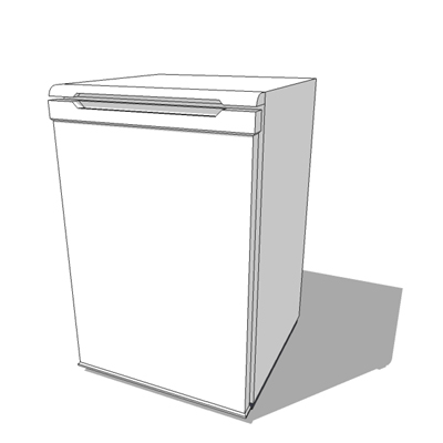 Free standing white fridge