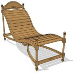 Indonesian teak lounger