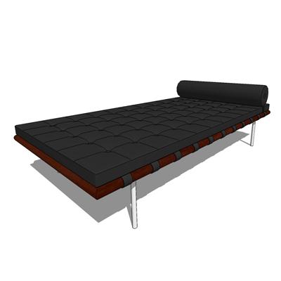 barcelona couch 3d model formfonts 3d models textures. Black Bedroom Furniture Sets. Home Design Ideas