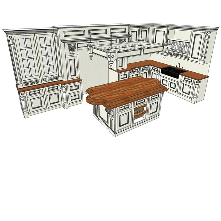 Mobile Kitchen Island 3d Model: FormFonts 3D Models & Textures