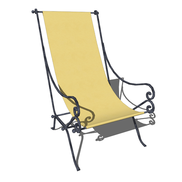 Spanish Style Wrought Iron Lounge Chair By La Forj.