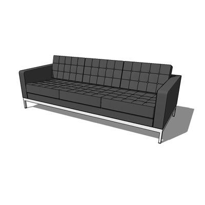 club triple sofa 3d model formfonts 3d models textures