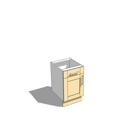 500mm wide base unit with draw,