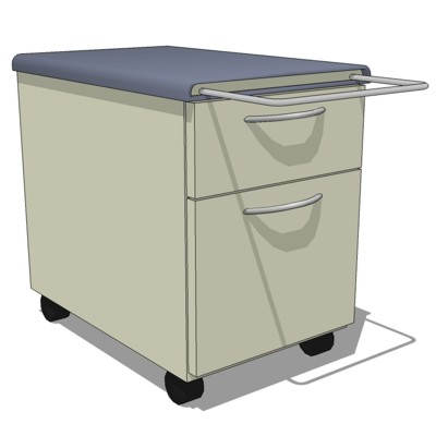 Mobile 2-Drawer File Cabinet by Steelcase. Unit ha....