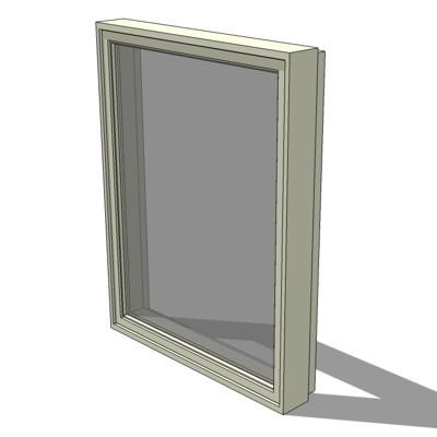Cx ii casement windows 3d model formfonts 3d models for Anderson casement windows
