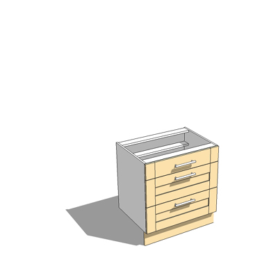 800mm wide pan drawer base unit,