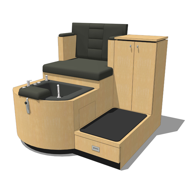 QSEp Pedicure System III by Collins with roomy acr....