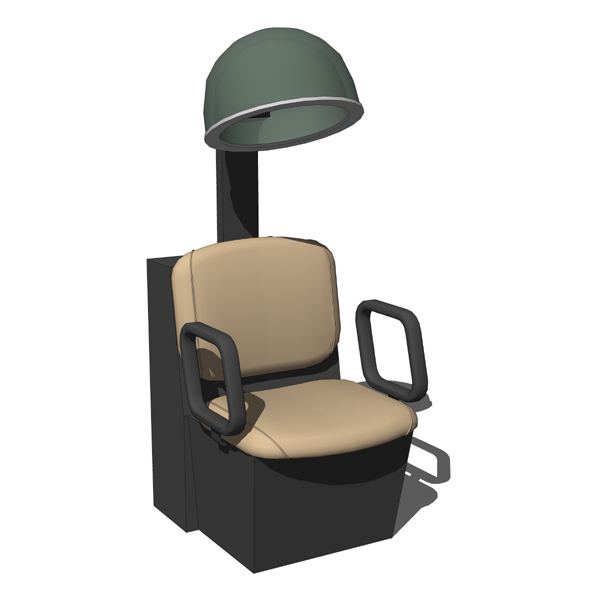 Qse dryer chair 3d model formfonts 3d models textures - Salon chair with hair dryer ...