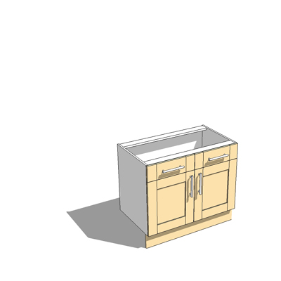 1000mm wide base unit with draw,