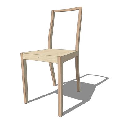Morrison ply dining 3d model formfonts 3d models textures for Plywood chair morrison