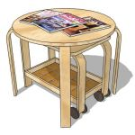 Sidetable with trolley set