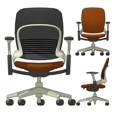 chair computer ergonomic asp swivel p blue leap steelcase