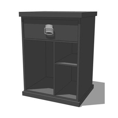Bedford Modular Home Office Misc. Shown in black..