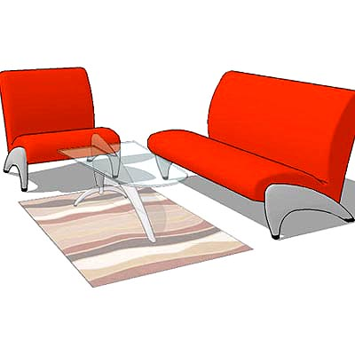 Creste sofa set with matching coffee table.