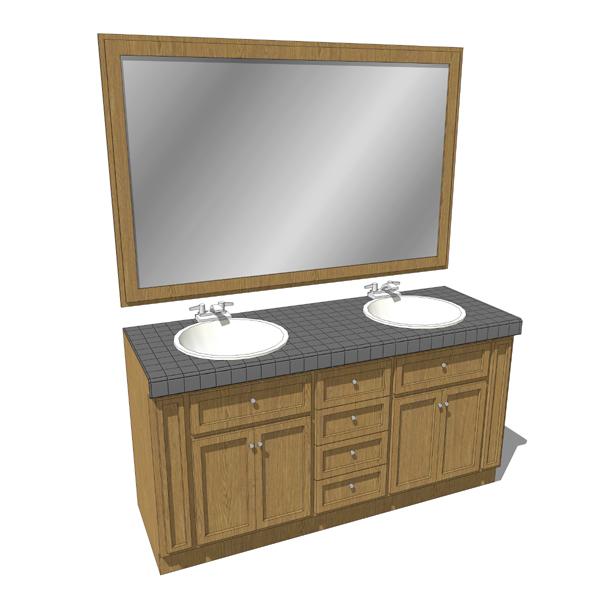 Bathroom sink w drawers 01 3d model formfonts 3d models for Sketchup bathroom sink
