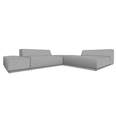 Flor sofa set 3D Model - FormFonts 3D Models & Textures