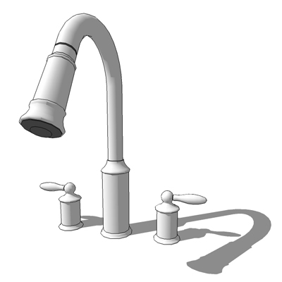 Moen 7592, two handle high arc pull down kitchen f....