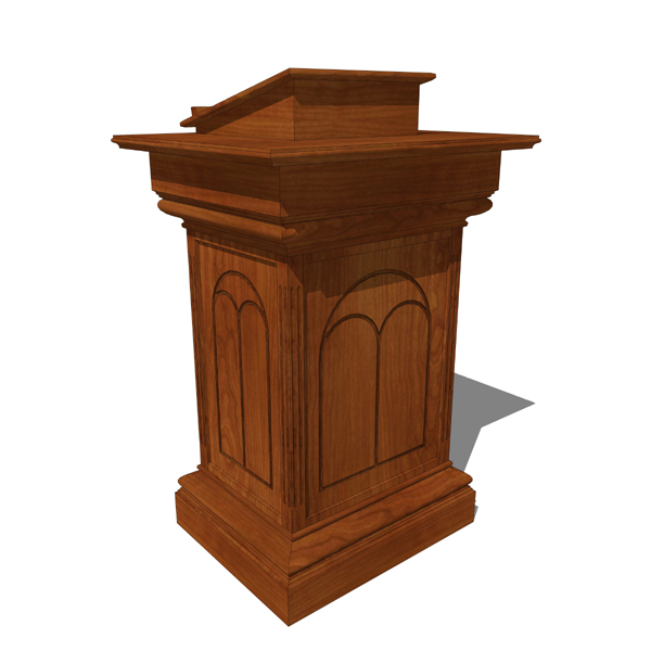 Church Pulpit 3d Model Formfonts 3d Models Amp Textures