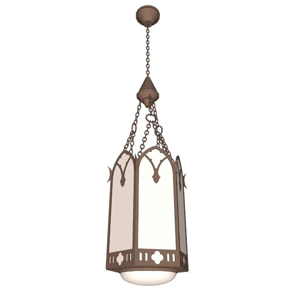 Church Pendant Light 3D Model